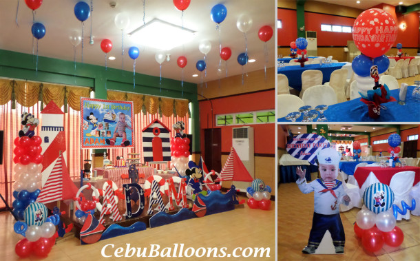 Mickey Mouse the Sailor Theme Decoration Package (Adam) at Hannah's Party Place