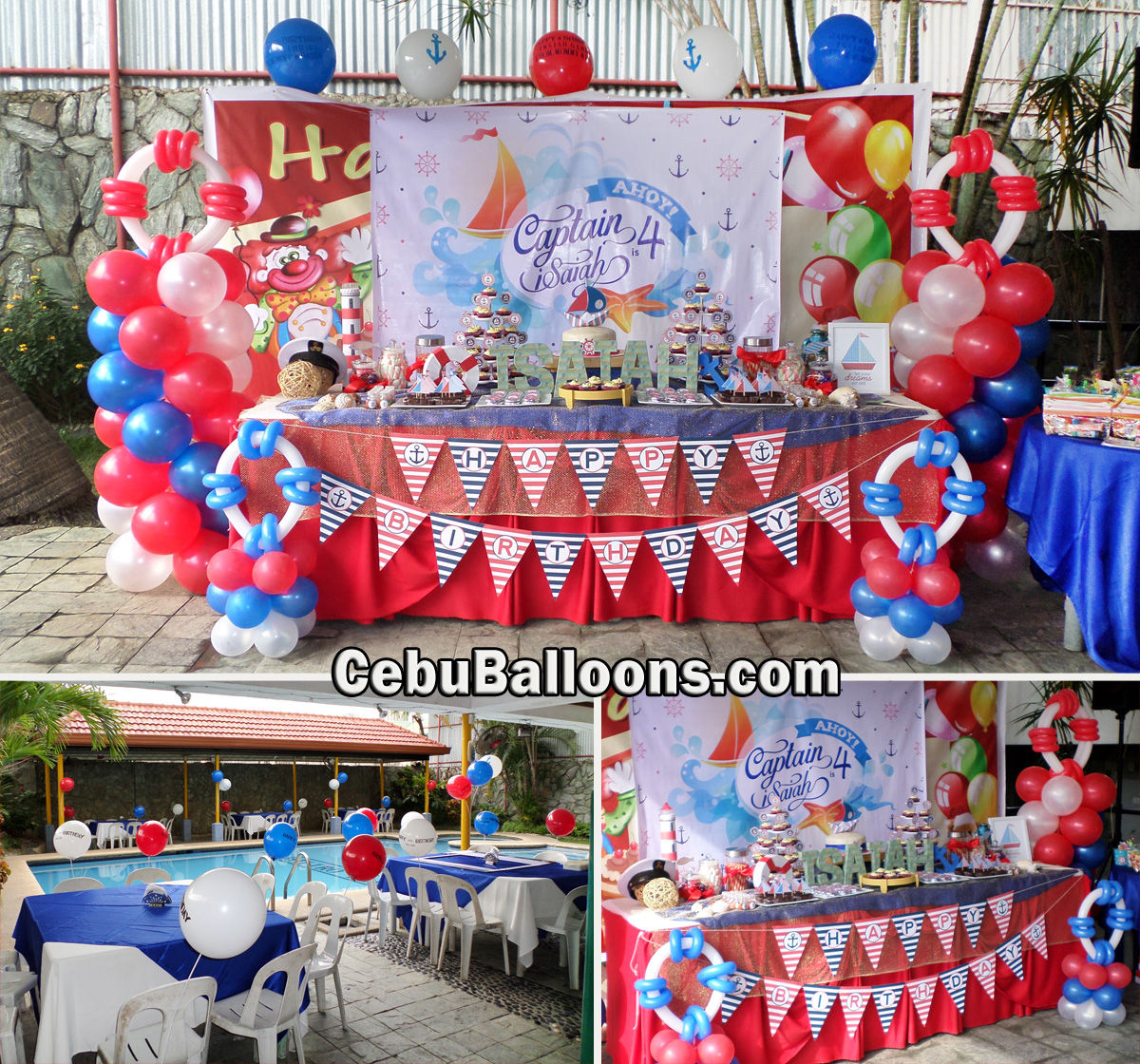Nautical Theme Balloon Decoration Captain Isaiah 4 At Metro Park Hotel