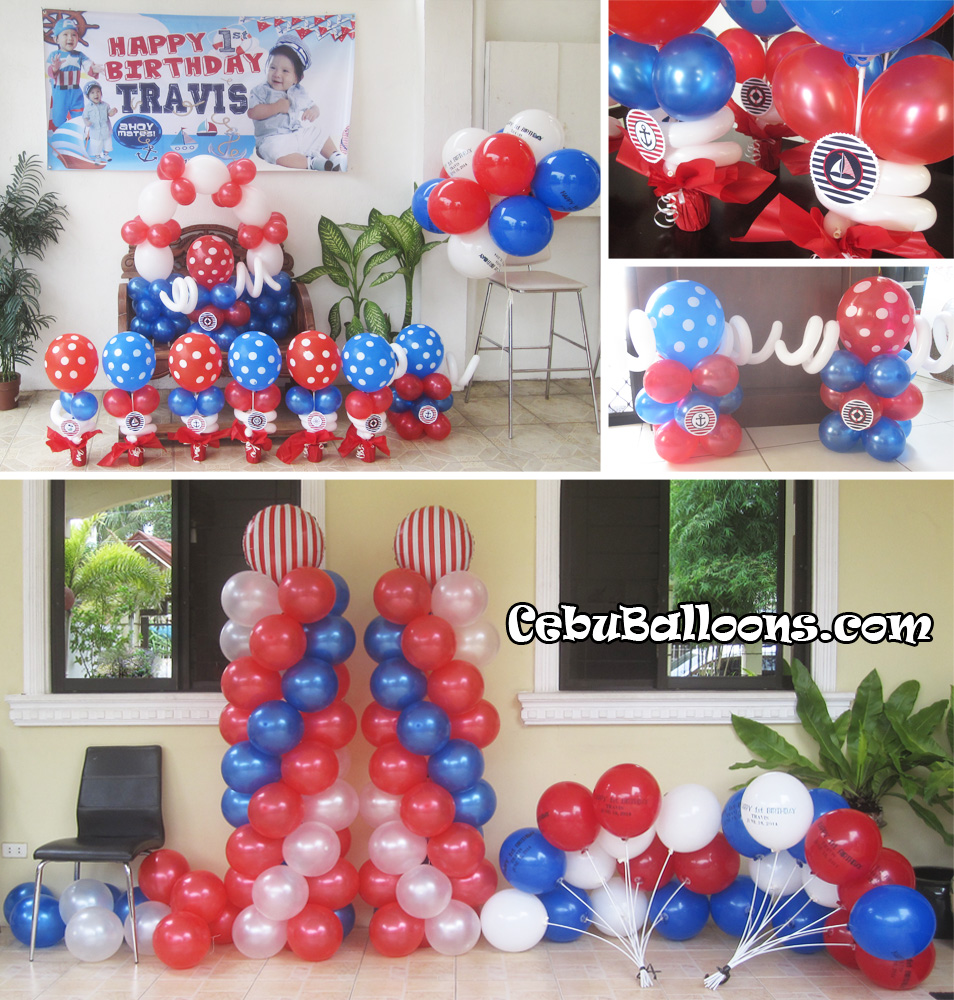 nautical sailor cebu balloons and party supplies
