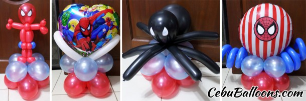 Assorted Spiderman Table Centerpieces