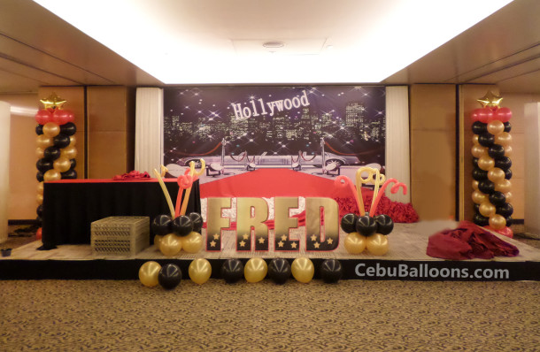 Balloon Decors for a Hollywood Theme Birthday Party at Quest Hotel