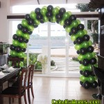 Entrance Balloon Arch (Light Green and Black) for Minecraft Birthday