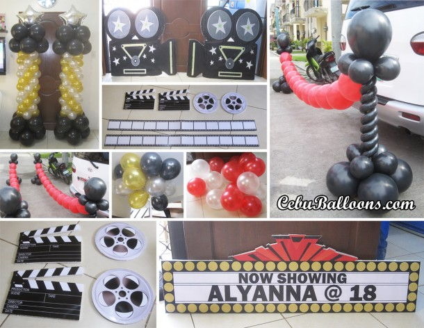 Hollywood Theme Balloon & Styro Decoration