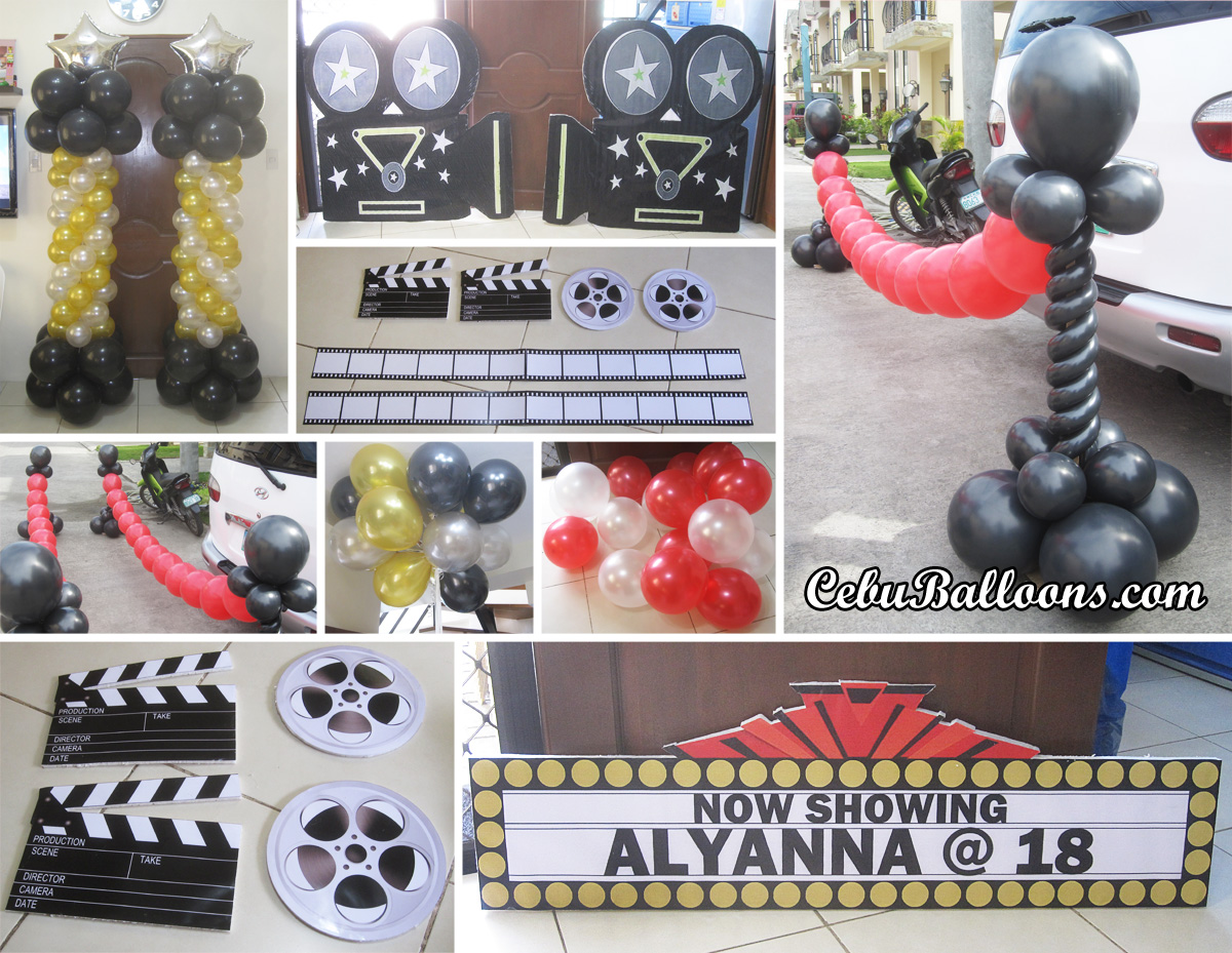Hollywood Theme Decorations Hollywood Cebu Balloons And Party Supplies