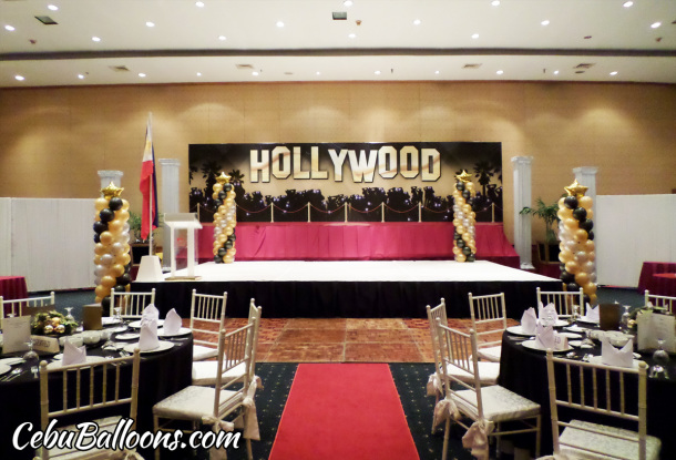 Hollywood Theme Decoration at Waterfront Hotel for Global Achievers Network