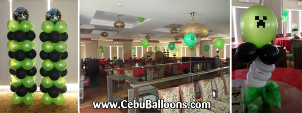 Minecraft cebu balloons and party supplies for Balloon decoration packages manila