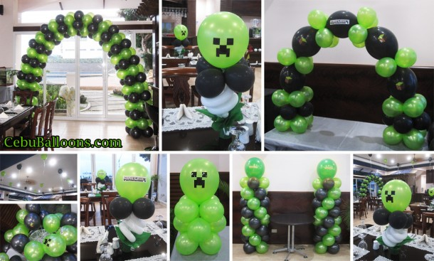 Minecraft Balloon Decoration Package at Nordtropic Resort