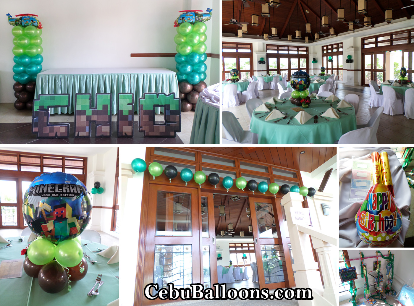 Minecraft cebu balloons and party supplies for Balloon decoration equipment