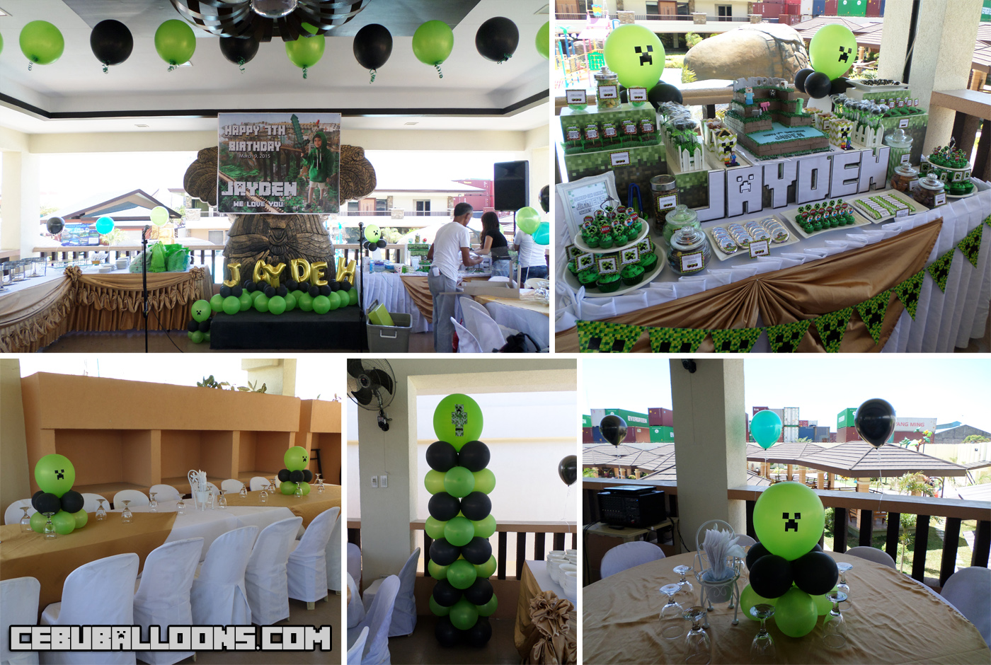 Minecraft cebu balloons and party supplies for Decoration goods