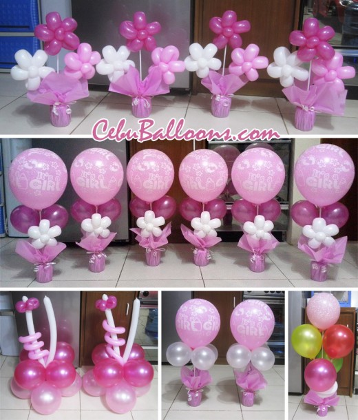 Table Centerpieces Package for a Girl Baptism