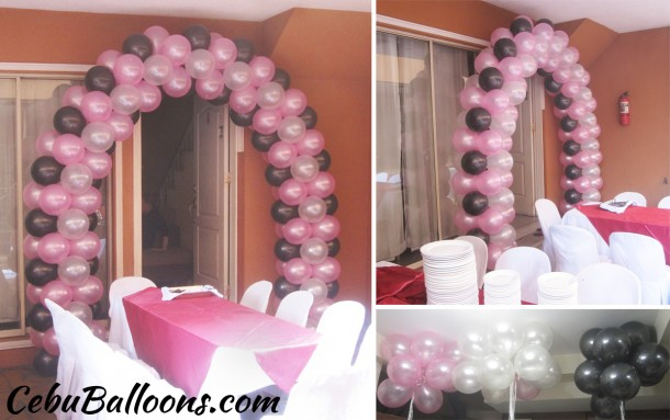 Balloon Arch (Pink, Black & White) at Neonita Homes