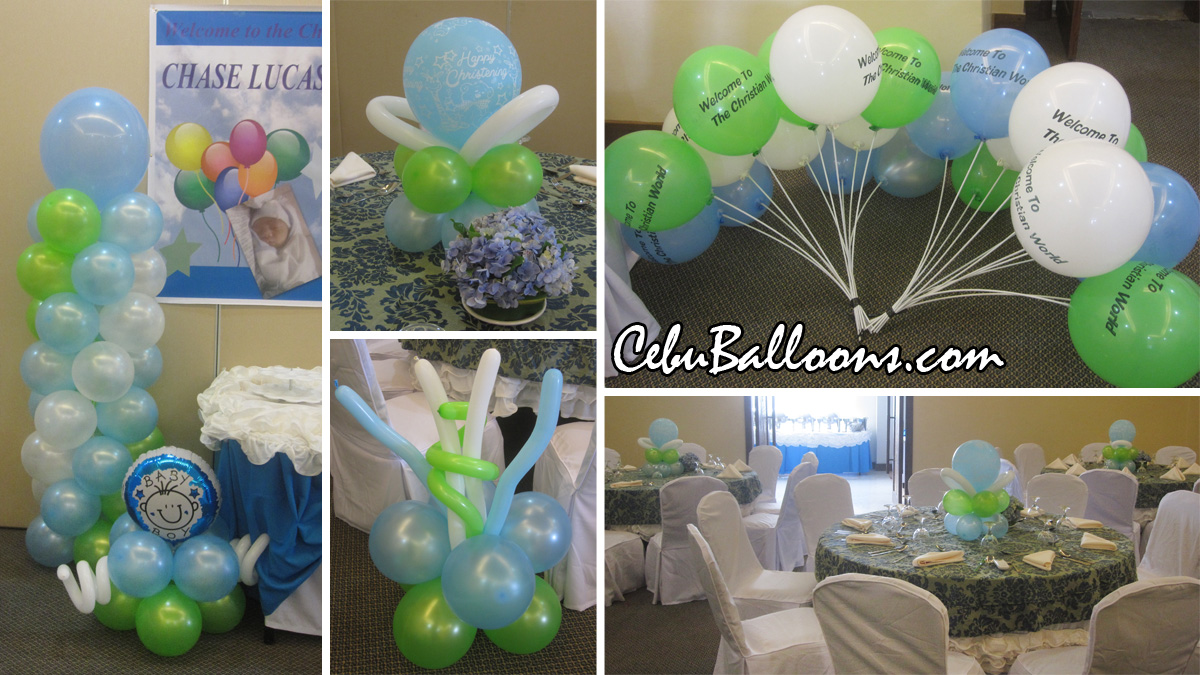 Christening packages cebu balloons and party supplies for Balloon decoration packages manila