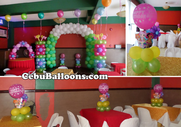 Lalaloopsy cebu balloons and party supplies for Balloon decoration packages