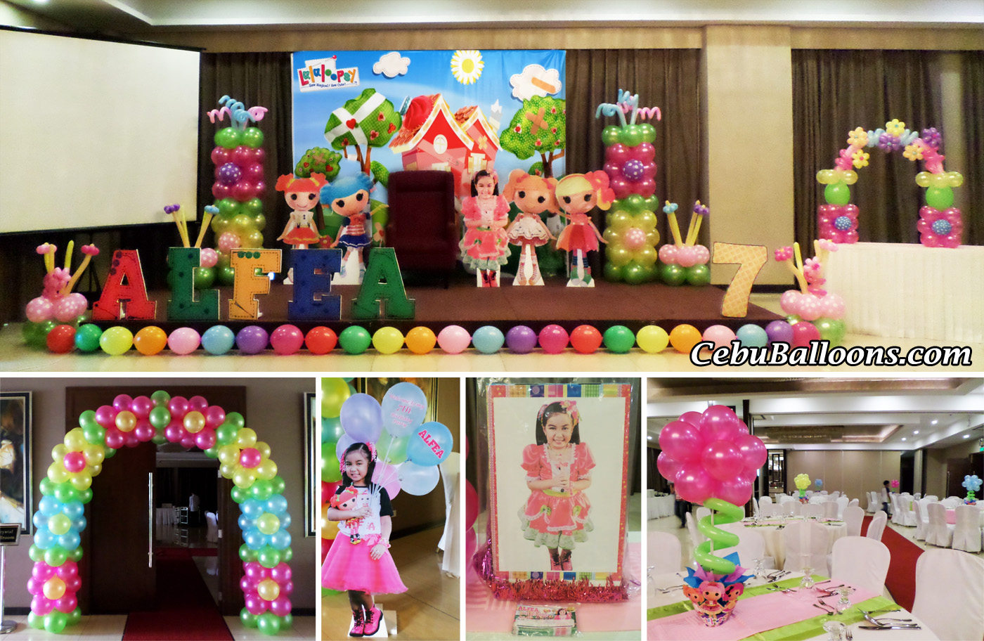 Lalaloopsy Theme Balloon Decoration Party Supplies u0026 Party Entertainers at Mandarin Plaza Hotel & Mandarin Plaza Hotel | Cebu Balloons and Party Supplies