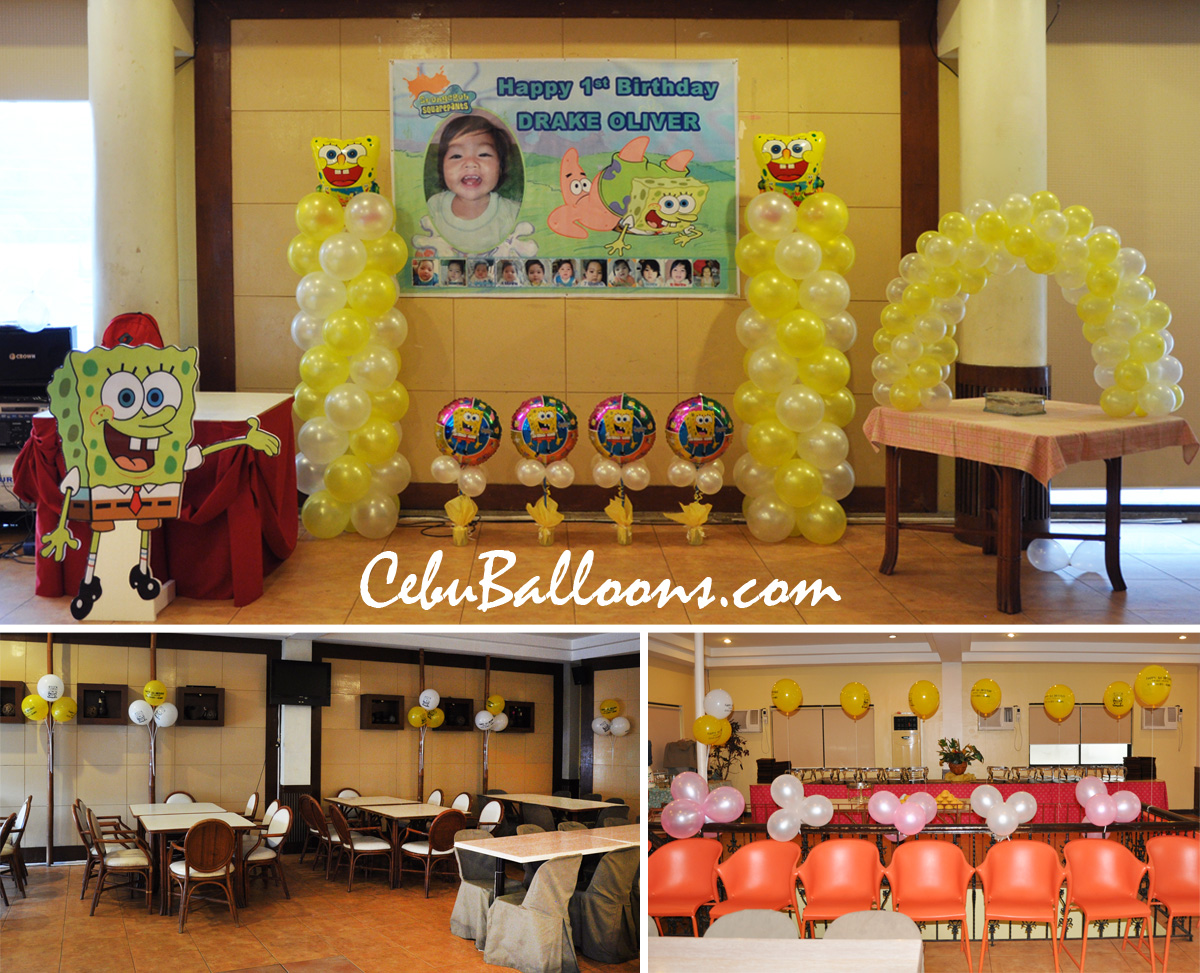 Spongebob cebu balloons and party supplies