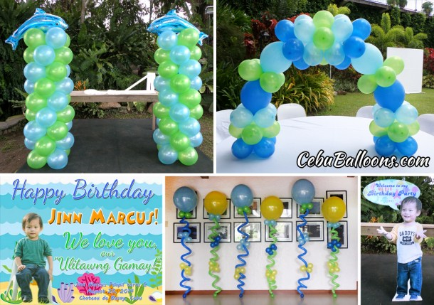 Under the Sea Balloon Decoration at Chateau de Busay