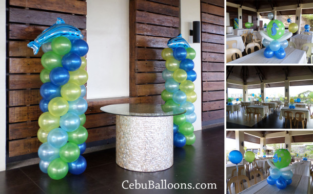 Under the sea cebu balloons and party supplies for Balloon decoration packages manila
