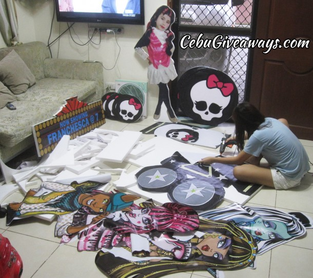 Working on the Monster High Styrocrafts