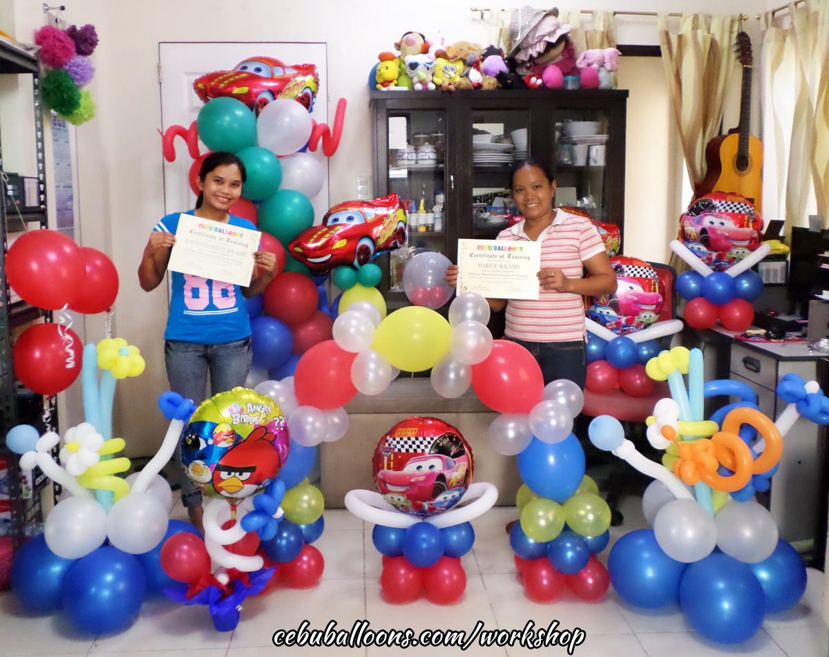 Balloon business start up package with training workshop for Balloon decoration packages manila