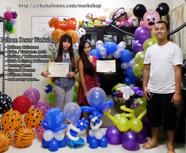 Balloon Decor Workshop for Tawi-tawi & Dumaguete Clients