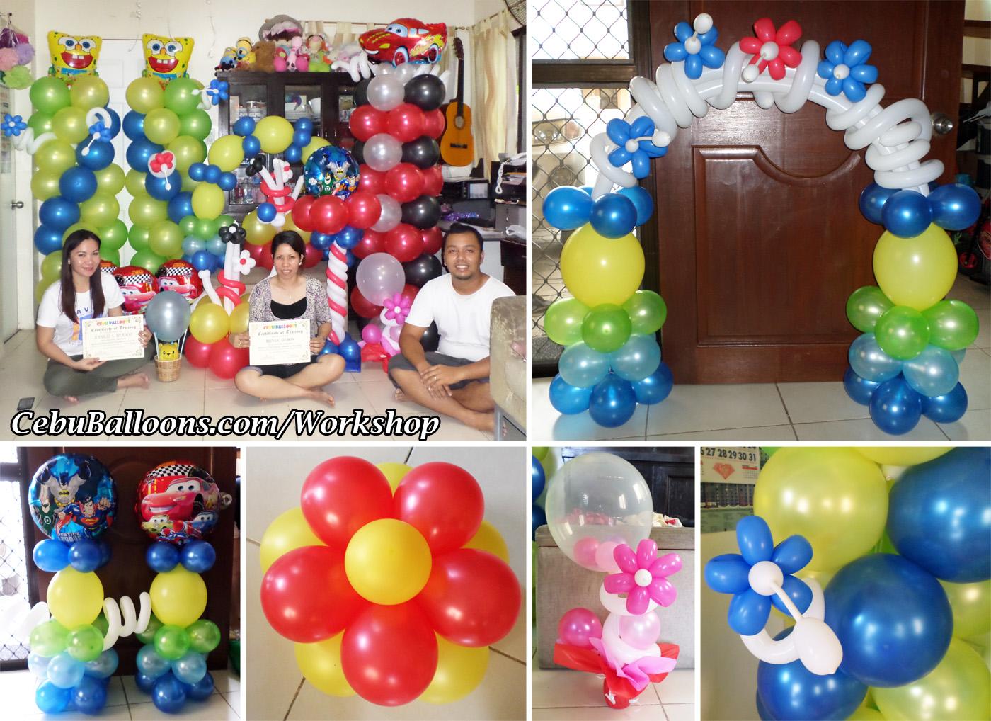 Balloon business start up package with training workshop for Balloon decoration courses dvd