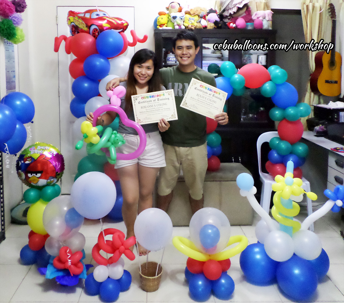 Balloon business start up package with training workshop for Balloon decoration course