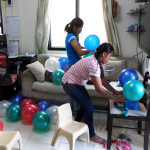 Balloon Workshop - Inflating the Balloons