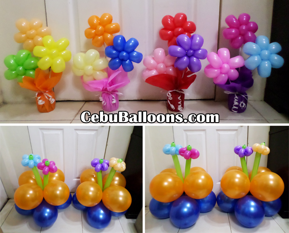 Flowers butterflies cebu balloons and party supplies for Balloons arrangement decoration