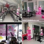 Girl Christening Decorations at Pino Restaurant White Room