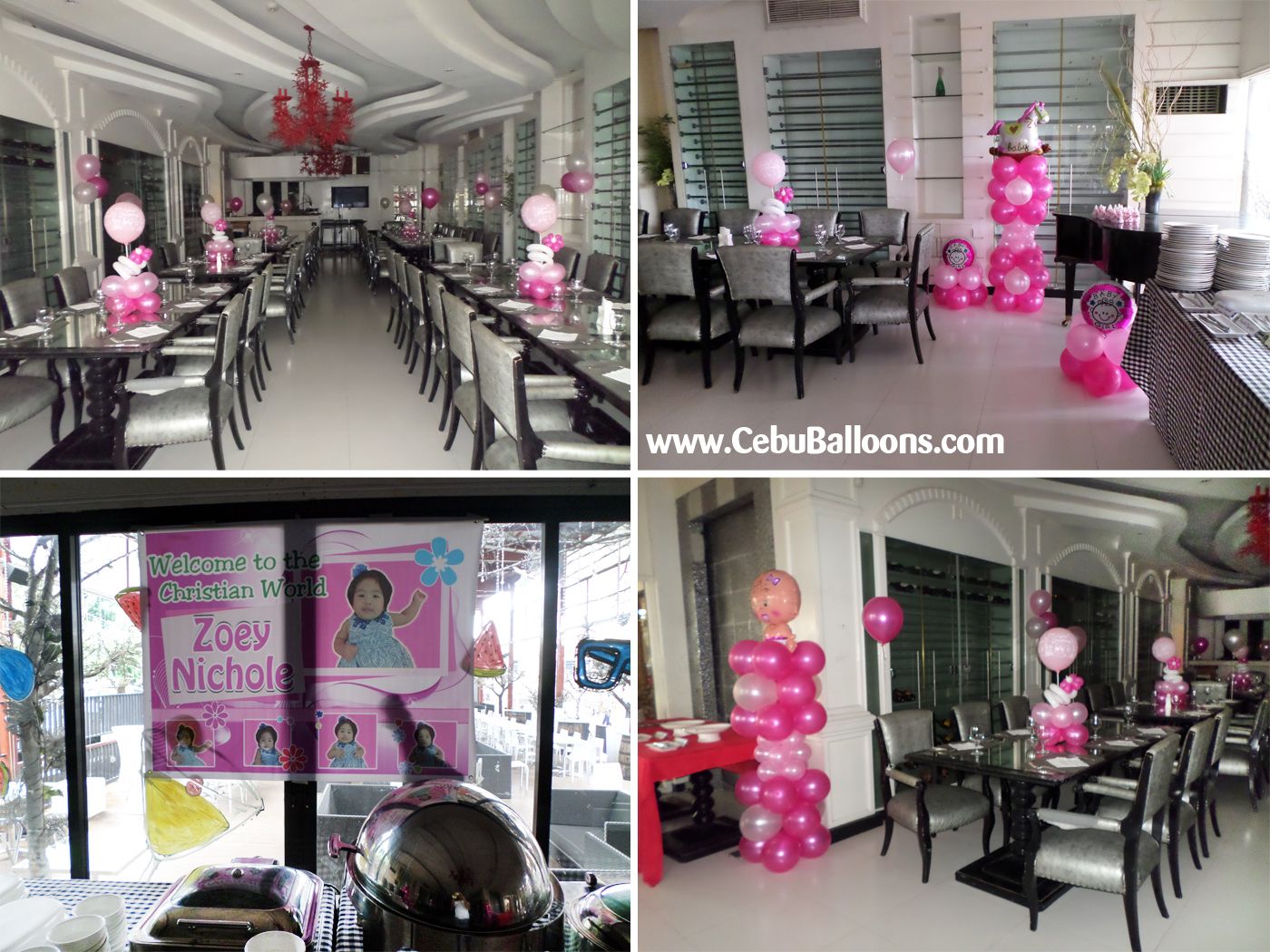 christening packages | cebu balloons and party supplies