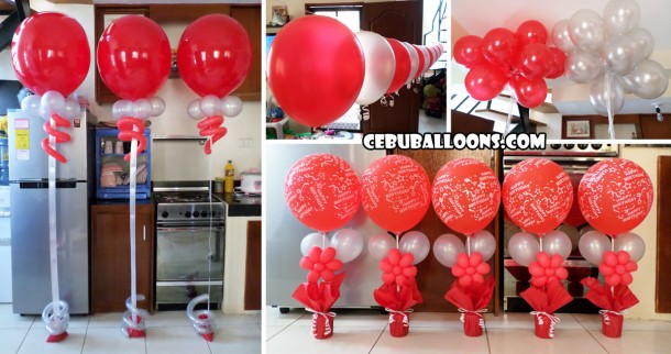 Red & Silver Balloon Decoration Package for Pusok, Lapulapu
