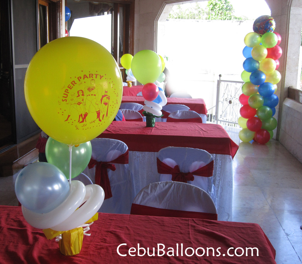 Superman cebu balloons and party supplies