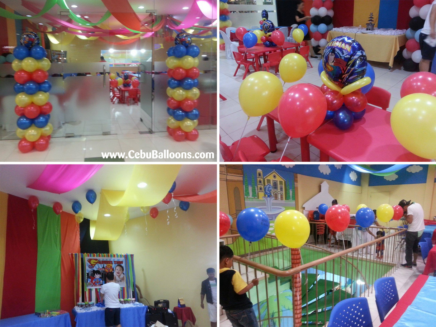 Superman cebu balloons and party supplies for Balloon decoration for 1st birthday party