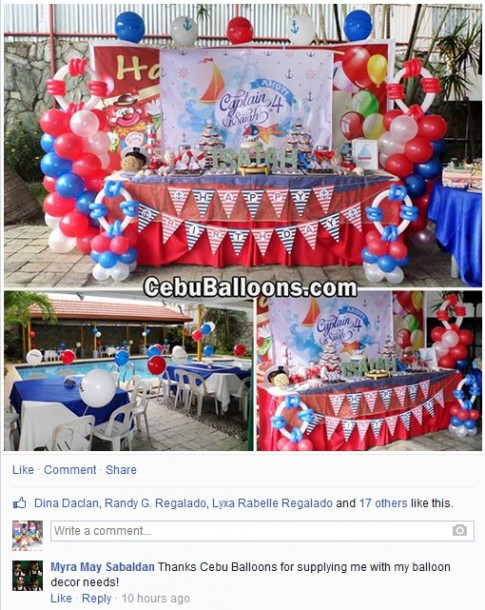Thank you from Myra May Sabaldan (Nautical Theme)