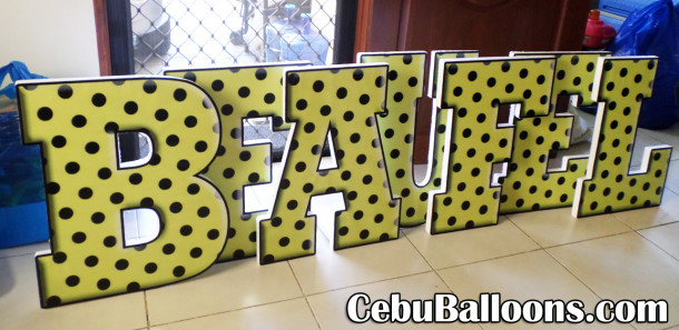 2-feet 3D Letter Standees (BEAUFEL) for Dalaguete