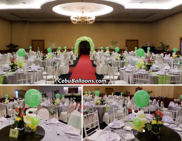 Balloon Decorations for a 60th Birthday at Waterfront Hotel (Arctic Room)