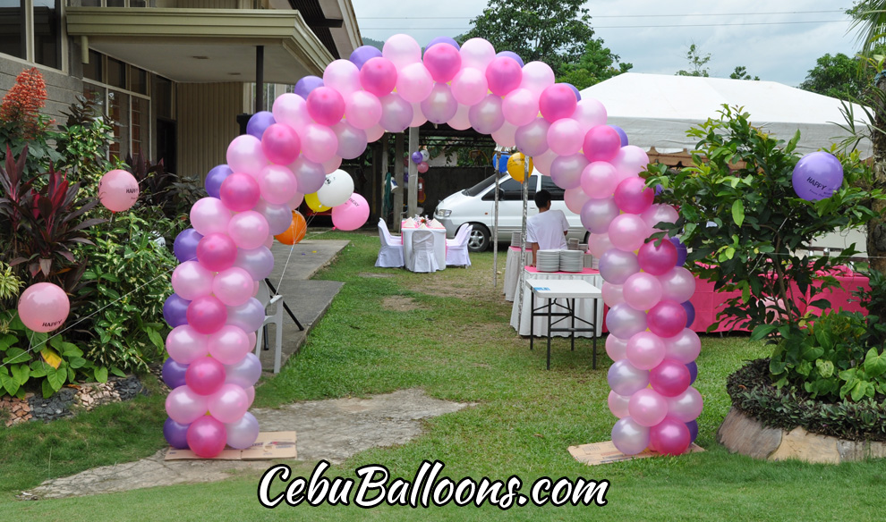 Entrance Arch for a Whimsical Owl Outdoor Birthday Party Cebu