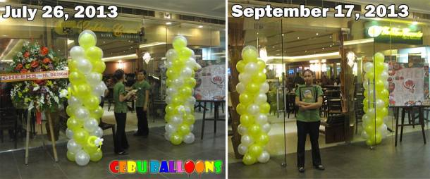 Metallic Balloons at Golden Cowrie (SM Cebu) lasted for Two Months
