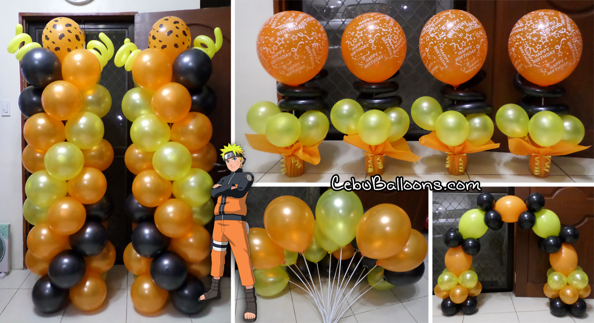 Naruto cebu balloons and party supplies naruto theme balloon decoration package at paknaan stopboris Choice Image