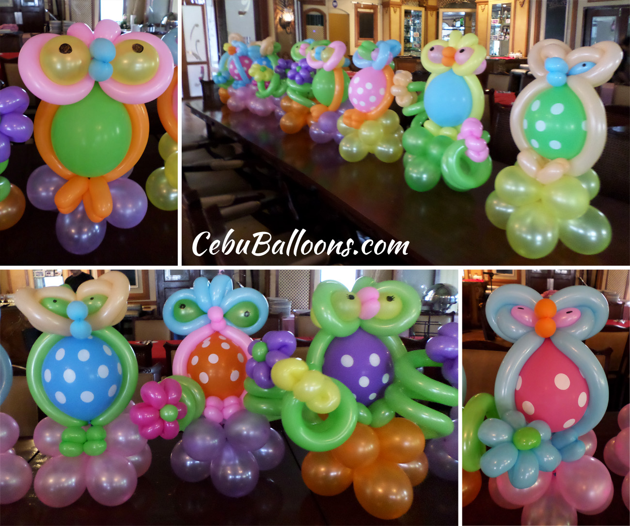 Owl Balloon Centerpiece : Whimsical owl cebu balloons and party supplies
