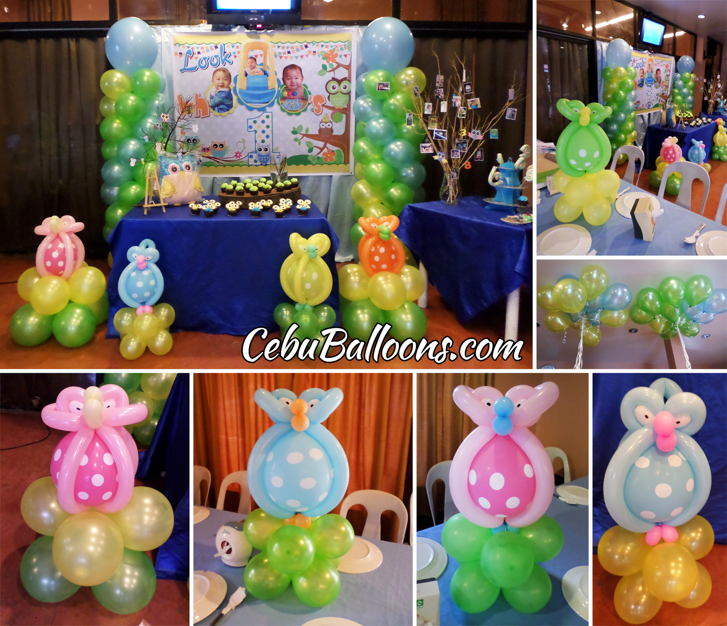 Whimsical owl cebu balloons and party supplies for Balloon decoration for parties