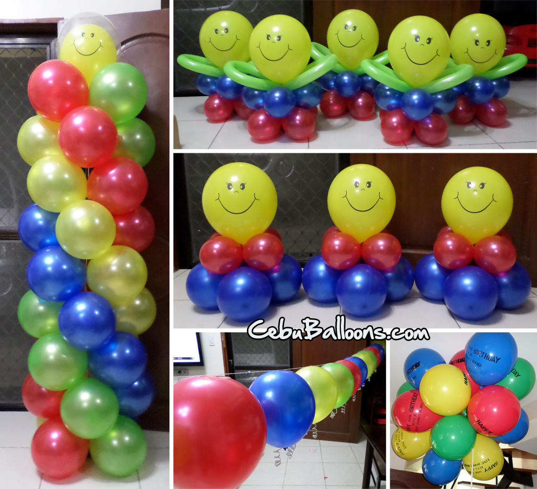 Smiley cebu balloons and party supplies for Balloon decoration equipment