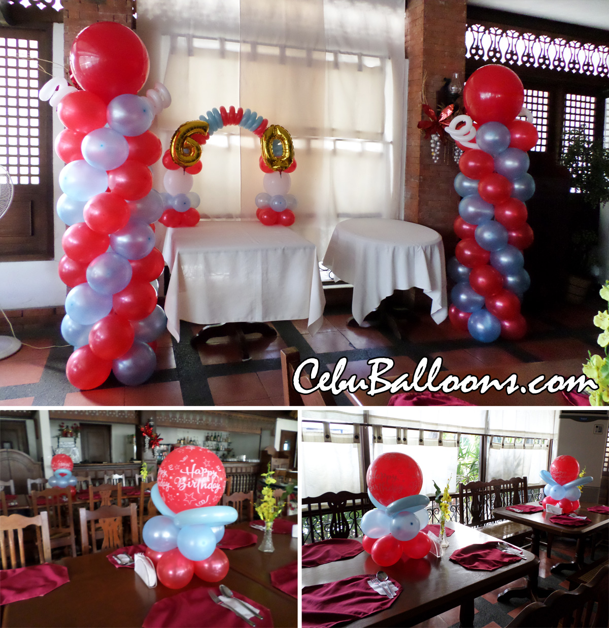 Senior citizen cebu balloons and party supplies for 60th birthday decoration