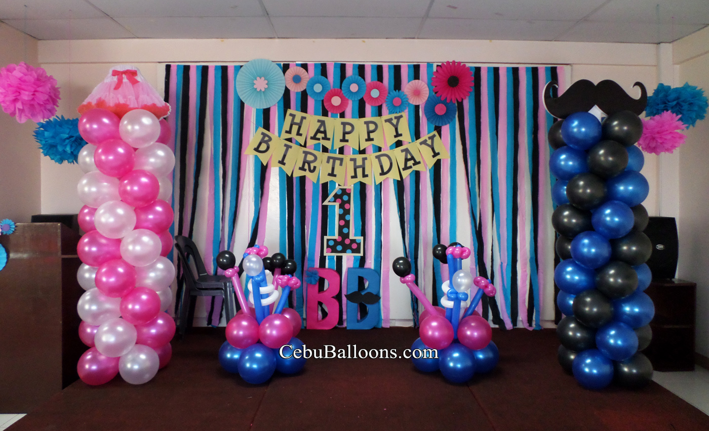 Little man cebu balloons and party supplies
