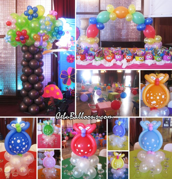 Whimsical owl cebu balloons and party supplies for Balloon decoration packages manila