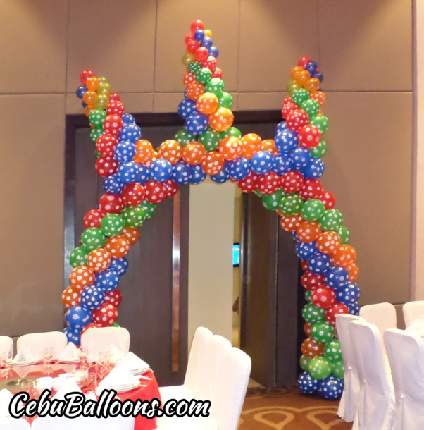 Colorful Dotted Balloons Entrance Arch at Cebu Grand Convention