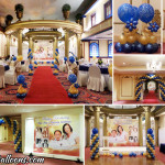 Beautiful Blue & Gold Balloon Decoration at Waterfront Hotel Lahug