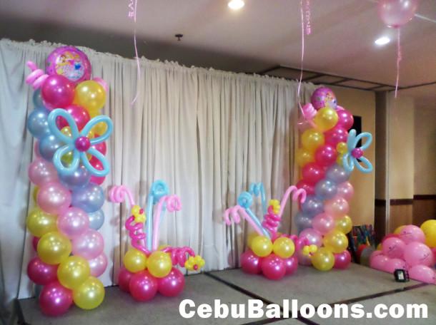 Latex foil balloons for parties cebu balloons and for Baby shower stage decoration