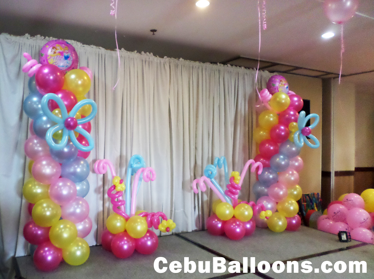 Latex foil balloons for parties cebu balloons and for Simple balloon decoration ideas at home
