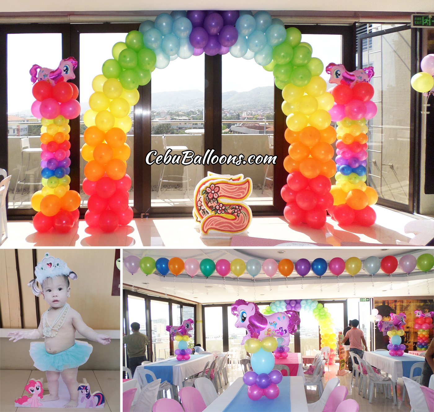 Little pony cebu balloons and party supplies for Balloon decoration packages